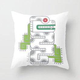 Koru-Fern Serpent Throw Pillow
