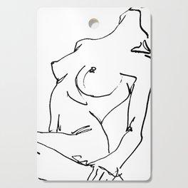 Nude drawing Cutting Board