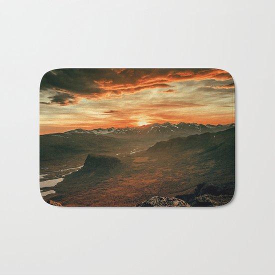 Sunset Landscape Bath Mat