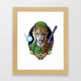 Zombie Link Framed Art Print