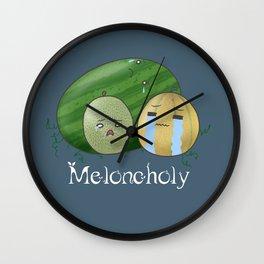 Melancholy Melons Wall Clock
