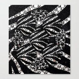 Black&Silver Abstract Bling Pattern  Canvas Print