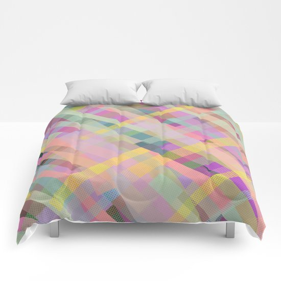 Colorful Square Pattern Comforters