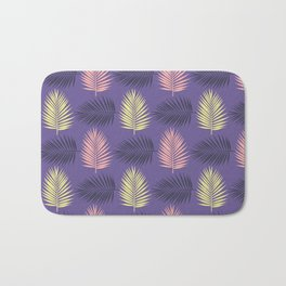 Ultra violet tropical palm leaves seamless pattern. Bath Mat