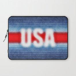 USA Typography Laptop Sleeve