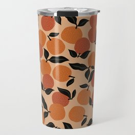 Seamless Citrus Pattern / Oranges Travel Mug
