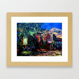 Nighttime Cafe Framed Art Print