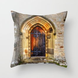 St Andrews Church, Aysgarth Throw Pillow