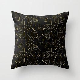 GGHeart-Gold Throw Pillow