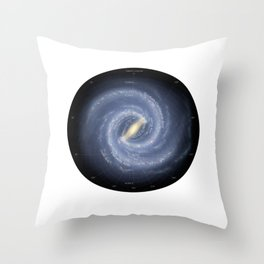 Milky Way With Explanation Of Arms Orion Spurs Space Geek print Throw Pillow