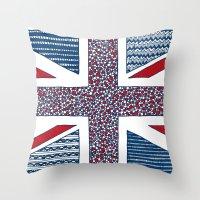 uk Throw Pillows featuring Lovely UK by Anita Ivancenko