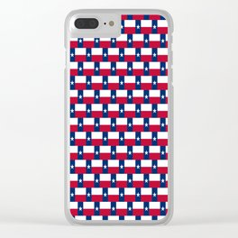 Texas Flag Pattern Clear iPhone Case