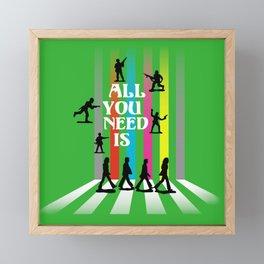 All You Need Is Framed Mini Art Print