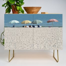 Bald Head Island Beach Umbrellas | Bald Head Island, North Carolina Credenza