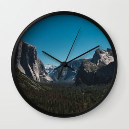 Tunnel View, Yosemite National Park II Wall Clock