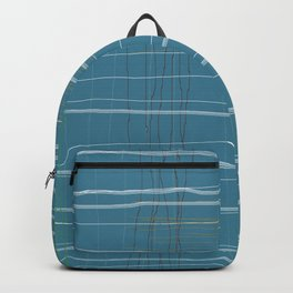 Straight lines with a twist no. 2 Backpack