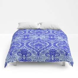 Simple Ogee Blue Comforters