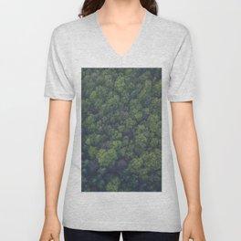 green-trees Unisex V-Neck