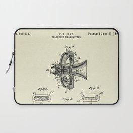 Telephone Transmitter-1898 Laptop Sleeve