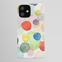 Watercolor drops multicolor iPhone Case