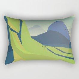 machu picchu travel poster Rectangular Pillow