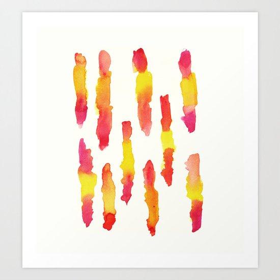 indian paintbrushes Art Print