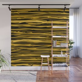 Honey Yellow Abstract Drizzle Wall Mural