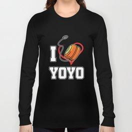 I Heart Yoyo Professional Toy Stringed Game Pastime Hobby Gift Long Sleeve T-shirt