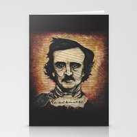 poe Stationery Cards featuring Poe by Colunga-Art
