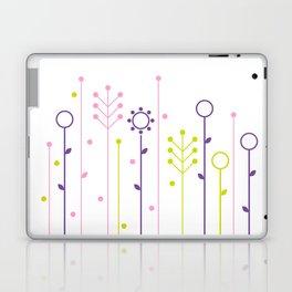 Beautiful colorful flowers Vector Illustration Laptop & iPad Skin