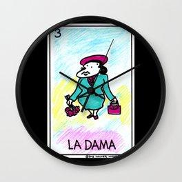 Loteria Ape #3: La Dama Wall Clock