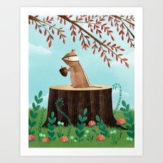 Woodland Friends - Chipmunk Art Print