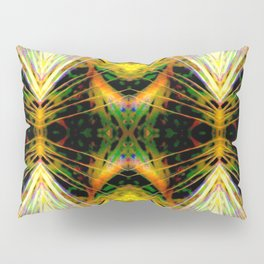 Yellow Bright Rays Fractal Art Pillow Sham