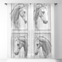Horse 1 Sheer Curtain