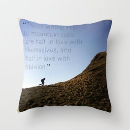 color image of Ireland with quote Throw Pillow