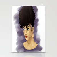 afro Stationery Cards featuring Afro by Adelys