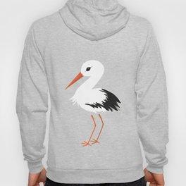 Cute stork vector Hoody