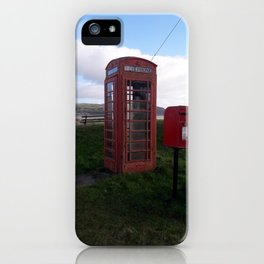 Antique Phone Box - Carmarthenshire, Wales iPhone Case