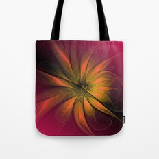 fractal elegance - red and orange Tote Bag