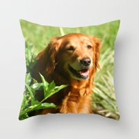 sassy Throw Pillows featuring Lady Sassy by Robin Curtiss