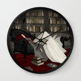 Asleep in the Library Wall Clock