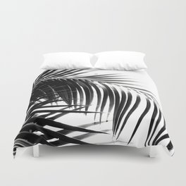 Palm Leaves Black & White Vibes #3 #tropical #decor #art #society6 Duvet Cover