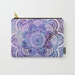 Galaxy Mandala Purple Lavender Blue Carry-All Pouch