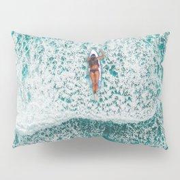 Girl Surfing Pillow Sham