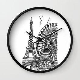 Paris Silhouettes Wall Clock