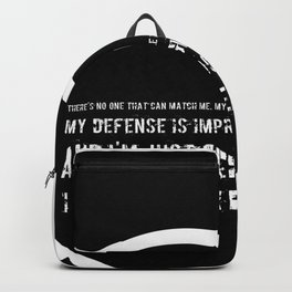 Impetuous, Impregnable, Ferocious, Heart Backpack
