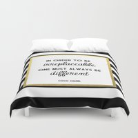 coco Duvet Covers featuring coco by Beauti Asylum
