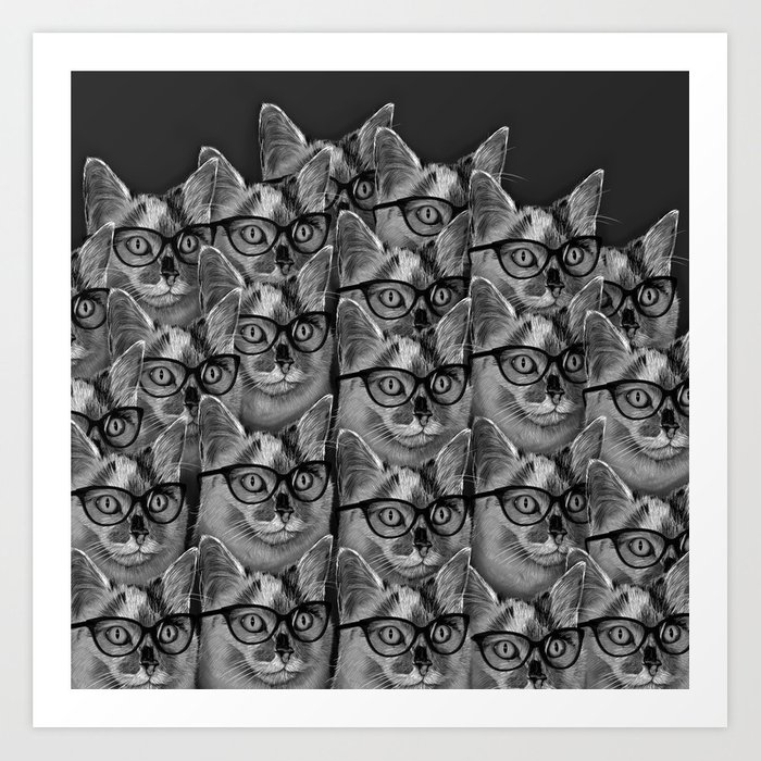 Thats a Lot of Cool Cats Art Print