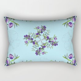 2941-AppleberryDesertRose Blue Rectangular Pillow