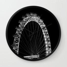 London Eye Photography, Black and White Art Wall Clock